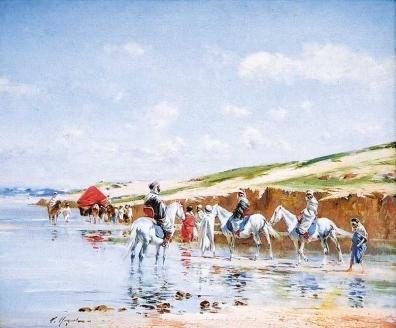 HUGUET-Pierre-Victor_1835-1902_le-passage-du-gue_mf.jpg